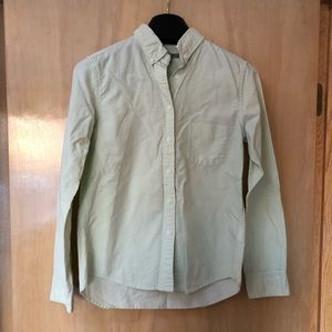 Uniqlo Oxford Pastel Green Button Down Shirt
